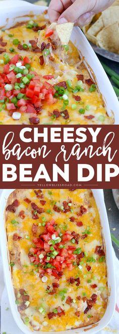 Cheddar Bacon Ranch Bean Dip