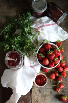 Celebrate summer with honey strawberry jam with herbs and balsamic vinegar - and my best berry picking advice! #CDNsummer #ad