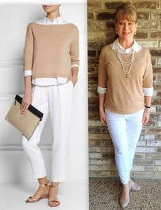 Moda donna di 50 anni - Fifty Plus looks - Mode Over 50 Womens Fashion, Fashion Over 40, Look Fashion, Trendy Fashion, Ladies Fashion, Fashion Brands, Older Women Fashion, Fashion Websites, Fashion Stores