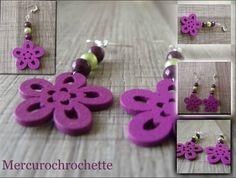 fleurs bois violettes perles prune et anis