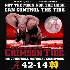 Alabama Crimson Tide 2012 BCS National Champions Back-to-Back Champions Moon Score T-Shirt - Black