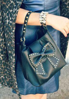 #fabfound Betsey Johnson Studded Bow Bag