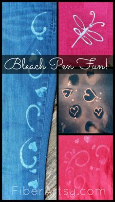 Bleach Pen Fun! Decorating Fabric with Bleach | FiberArtsy.com