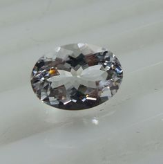 2.3 Ct 10.6x7.9 mm Oval Shape White Beryl Goshenite Excellent Cut Faceted Stone  #Unbranded