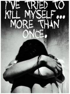 suicide, kill, and sad image