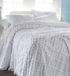 """Queen Tufted Chenille Hobnail Bedspread, 100"""" x 118"""""""