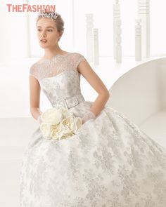 Strapless wedding dresses have ruled wedding necklines for a number of years but we are now seeing illusion neckline wedding dresses take over the strapless' territory. Illusion neckline wedding dr…