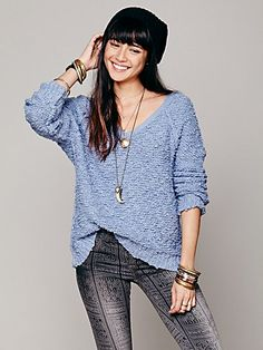 Free People Shaggy Knit Pullover- in every color.