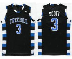 The Movie One Tree Hill Jersey 3 Lucas Scott Black Swingman Basketball Jerseys