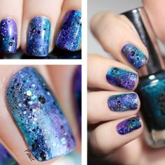 Sponging nailart with A England, ILNP et Enchanted polish