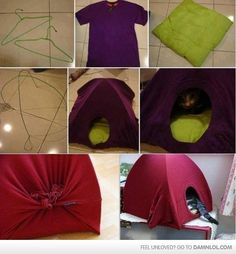 DIY Kitty House - Damn! LOL