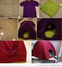 DIY Kitty House - Damn! LOL