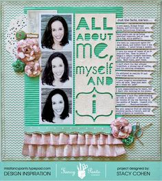 scrapbooking all about myself | All About Me, Myself and I - Fancy Pants Designs - Scrapbook.com