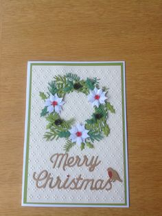 Crafters companion wreath die Christmas card