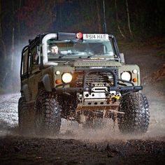 "Badass ============================ ""To find zen seek a mountain & meditate on its true nature. Then drive over it in one's Land Rover"" - Zen Proverbs by landrover_zen Badass =========. Land Rover Defender 110, Defender 90, Jeep Truck, 4x4 Trucks, Jeep Suv, Hummer, Offroad, Hors Route, Badass"
