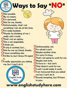 30 Methods to Say No in English English Research Right here English study Ways Learn English Grammar, English Vocabulary Words, Learn English Words, English Phrases, English Idioms, English Language Learning, English Study, English Lessons, Teaching English
