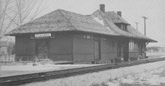 Elkhorn, Manitoba Train Station Railway CPR Historic Historical History Photos Photographs Pics Pictures Western Canada Settlement Prairies West Western 1900's