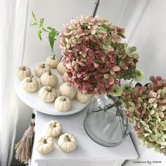 """136 Likes, 17 Comments - Clara Burro (@interiors_by_clara) on Instagram: """"My autumn vibes at home. Pumpkins and hydrangeas. Isn't a great combo? Moje jesienne klimaty.…"""""""
