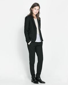 ZARA - WOMAN - COMBINATION TUXEDO JACKET  , sharp!