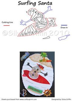 Surfing Snowmen Iris Folding on Craftsuprint - Add To Basket!