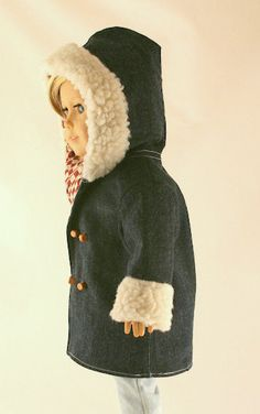 American Girl Doll Clothes Denim Coat or by Forever18Inches