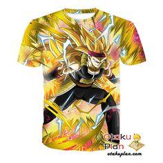 DBZ Fighting Saiyan Counterattack Super Saiyan 3 Bardock T-Shirt - Dragon Ball Z 3D Shirts And Clothing  #animeboy #merchandise #comic #anime #animelover #animeart #stuff
