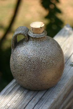 Salt Glazed Round Jug Seagrove NC by Beaverspottery on Etsy, $16.00