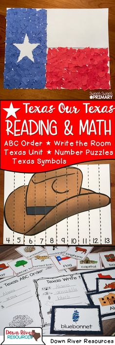 Texas symbols math and literacy resources for kindergarten, first grade, and second grade Black History Month Activities, Spanish Activities, Kindergarten Activities, Social Studies Resources, Teaching Social Studies, Kids Bulletin Boards, Nasa History, School Week, Texas History