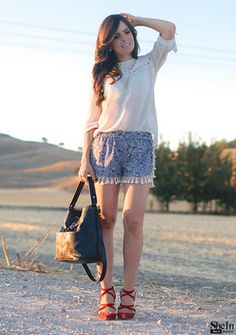 SheIn offers Blue Elastic Waist Cashew Print Tassel Shorts & more to fit your fashionable needs. Elastic Waist, Lace Skirt, Tassels, Fitness, Skirts, Blue, Shopping, Fashion, Moda