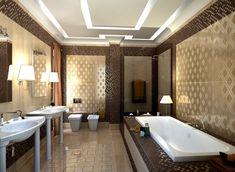 carrelage mural doré, mosaïque murale en pâte de verre marron foncé et appliques murales design
