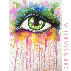 Tamara Laporte  - www.wilowing.org - Eye Art Ink Sprays