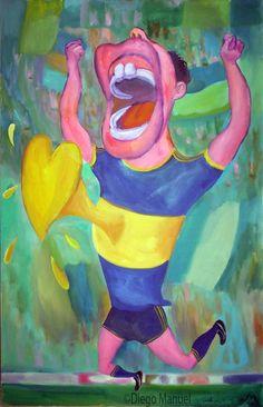 Gool Gool ! 2, acrylic on canvas, 95 x 61 cm. 2006. Pintura sobre el futbol…