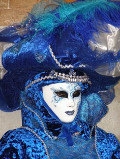 I'm in blue too.  Venice Carnival 2015 by Lesley McGibbon