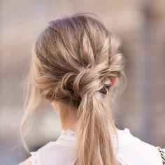 love this look for bridal or bridesmaid hair