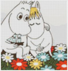 Cross Stitch Embroidery, Cross Stitch Patterns, Knitting Patterns, Little My Moomin, Moomin Wallpaper, Pixel Art, Nerdy, Needlework, Embroidery Designs