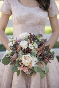 Pink and Copper Fall Wedding Ideas Unique copper gold Fall wedding bouquet Fall Bouquets, Fall Wedding Bouquets, Fall Wedding Flowers, Fall Wedding Colors, Autumn Wedding, Bridesmaid Bouquet, Floral Wedding, Bridal Bouquets, Fall Flowers