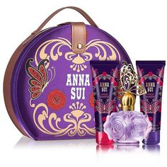 Anna Sui Three-Piece Romantica Gift Set ($65) ❤ liked on Polyvore featuring beauty products, gift sets & kits, no color and anna sui