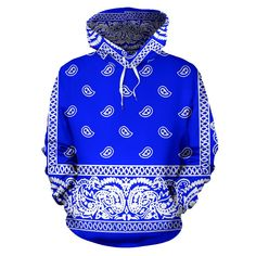 Trendy Hoodies, Unique Hoodies, Cool Hoodies, Crip Bandana, Bandana Blanket, Bandana Tattoo, Bandana Print, Dope Outfits For Guys, Swag Outfits Men