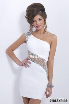 I like this - Sexy Prom Dresses Sheath Short Mini One Shoulder Beaded With Elegant Sheer Back. Do you think I should buy it?