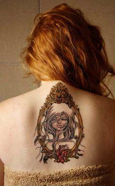 audrey kawasaki art and cameo tattoo's are a perfect match :)