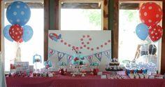 Tabla Postre Avión Primera fiesta de cumpleaños temática del muchacho