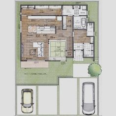 misakiさんはInstagramを利用しています:「お久しぶりです(^^) 先日、無事にローン審査が通り、土地の引渡しをしてきました✨ これで自分たちの土地になったと思うと 感慨深いものがあります😊 . 間取り、以前までと大幅に変わっています! 延床面積40坪、施行面積45坪くらいなのは変わらずです。 キッチン裏のウォークスルー…」 Japanese Architecture, Architecture Plan, Japanese House, House Layouts, Social Media Design, Gaudi, House Plans, Around The Worlds, Floor Plans