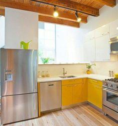 Uma cozinha onde a luz é a estrela a luz natural a do ambiente e a luz do amarelo que sempre traz alegria. Uma ótima inspiração.   Olhares @limaonagua #decoração #cozinha #decoraçãodeinteriores #amarelo #designdeinteriores #decoradores #iluminação #decor #arquiteturadeinteriores #decorcozinha #cozinhaamericana #conceitoaberto #olhardemahel #fpolhares #decoration #kitchendecor #kitchendesign #kitchen #light #interiordesign #inspiration #yellow http://ift.tt/2kPoxrP
