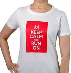 Does running help you stay calm in an otherwise hectic life? Then our Keep Calm and Run On tee is perfect for you!