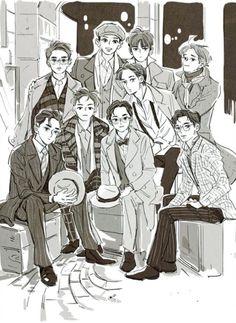 Cre: the owner/as logo Exo Fanart, Exo Cartoon, Ballon Animals, Chibi, Exo Anime, Kpop Exo, Chanyeol, Fanarts Anime, Character Illustration