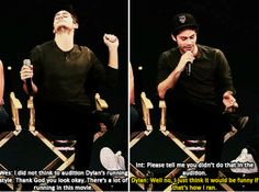 Dylan O'Brien when the cast was asked about running in the audition process for The Maze Runner.
