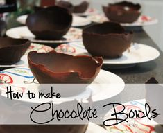 How to make #Chocolate Bowls #foodie #recipe #howto #DIY #baking