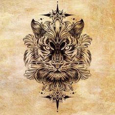 Tiger tattoo design by Bennett-Klein.deviantart.com on @DeviantArt