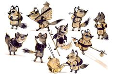Red Fox Designs in Kung Fu Panda - Nicolas Marlet Character Sketches, Character Design Animation, Character Design References, Character Illustration, Character Concept, Character Art, Concept Art, Kung Fu Panda, Character Design Inspiration