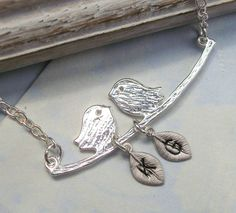 My Little Family  Lovebirds on a Branch with by Kikiburrabeads, $22.50